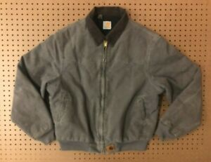 MENS LARGE - Carhartt Duck Flannel Quilt Lined Santa Fe Jacket