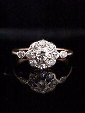 EDWARDIAN 18CT AND PLATINUM DAISY DIAMOND CLUSTER RING