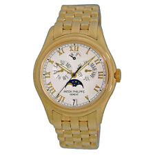 PATEK PHILIPPE 18K Yellow Gold Annual Calendar Moonphase 5036 J Box Warranty
