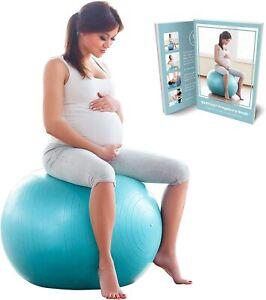 BABYGO Birthing Ball 65cm 75cm Anti Burst Pregnancy 100 Page Pregnancy Book