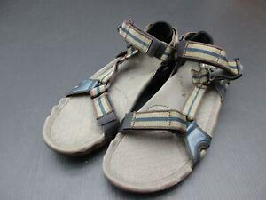 Teva Size 11 Mens Brown Casual Walking Valcro Closures Open Toe Strap Sandals 3A