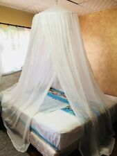 Canopy Mosquito Net 100% Cotton Tent Curtain Ceiling Net Cover Single-King Bed