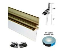 """Gold Framed Shower Door Replacement Drip Rail with Vinyl Sweep - 35"""" Long"""