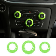 Green Air Condition Audio Switch Knob Trim for Dodge Charger/Challenger 2015+RAM
