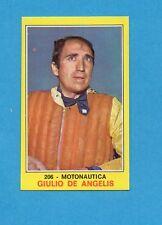 CAMPIONI dello SPORT 1970-71-Figurina n.206- DE ANGELIS -MOTONAUTICA-NEW