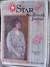 Star Needlework Journals Nos.1 & 2, Vol. 7, 1922. Edgings, Filet, Yokes, Baby
