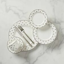 Kate Spade - Larabee Road Platinum 5-Piece Dinnerware Place Setting (Set of 8)