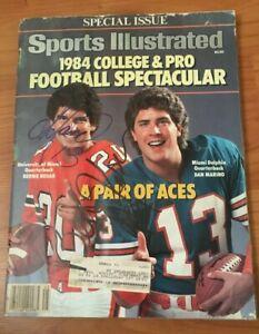 1984 Sports Illustrated Signed by Dan Marino & Bernie Kosar - Beckett Photo LOA!
