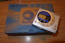 Sharp MD mt 15 MiniDisc grabador reproductor + Sony MD 80 min. (887)