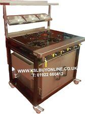 More details for commercial gas cooker 5 burner solid top
