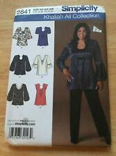 Simplicity Khaliah Ali Collection Top  pattern #2841 Women's Size 26W-321Uncut