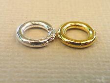 Bindering geschlossen stark Metall 8 x 1,5 mm Verbinder Öse Farbwahl 2811
