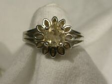 Women's 6mm Citrine ring Sz 7