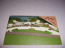 1940s CYNTHIA MANOR MOTEL FORT LAUDERDALE FLORIDA LINEN POSTCARD