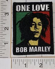 BOB MARLEY ONE LOVE REGGAE MUSIC MARIJUANA CANABIS EMBLEM PATCH