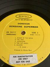 DONOVAN SUNSHINE SUPERMAN PROMO EPIC RECORDS FIRST PRESSING VINYL LP ALBUM !!
