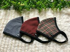 Plaid Face Mask - Washable & Reusable - Double Layer - High Quality