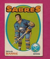 1971-72 OPC # 22 SABRES DOUG BARRIE  ROOKIE VG  CARD (INV#5279)
