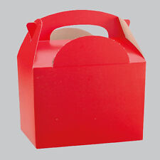 10 X Red Kid Childrens Plain Activity Food Loot Favour Birthday Party Bag Gift