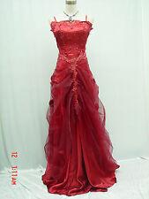 Cherlone Red Ballgown Bridesmaid Formal Wedding/Evening Full Length Dress 14-16