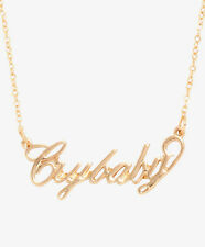 MELANIE MARTINEZ CRY BABY NAMEPLATE NECKLACE Gold Tone Crybaby Pendant NEW