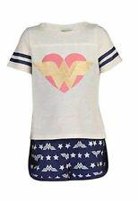 Wonder Woman Girl's Super Hero Star Polyester Pajama Shorts Set