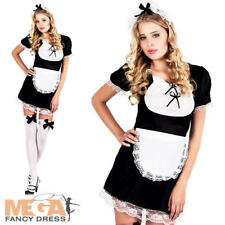 Sexy French Maid UK 10-14 Ladies Fancy Dress Hen Party Fun Womens Adults Costume