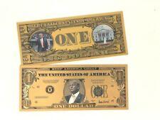 Donald J Trump $1 Dollar Great Gold KAGA Commemorative Collectable Bank Note