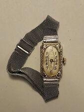 18K White Gold ~ Paul Vallette Art Deco Filigree Women's Watch