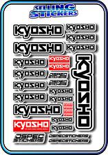 KYOSHO MODEL RC CAR DRONE BOAT BUGGY MINI Z STICKER DECAL SET ROBOT R/C BLACK W