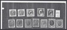 Jim Czyl Bogus photocopy prototypes of USA 1890 stamps with contemeporary QV hea