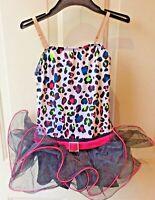 Dance/Ballerina Dress Weissman Black & Pink Size IC With Matching Head Band