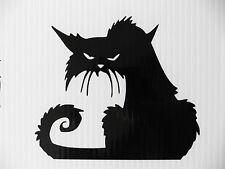 Scary black cat stickers/car/van/bumper/window/decal laptop fridge code 5297 BK