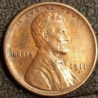 1911 S Lincoln Wheat Cent Penny 1c Beautiful BU Toned P2199
