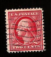 US 1908 Sc# 332 2 c George Washington  USED Light  Cancel -