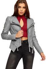 Cappotti e giacche da donna grigi poliestere cerniera