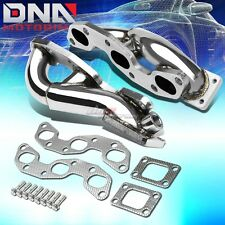 FOR NISSAN 300ZX Z32 VG30DETT TWIN TURBO T25/T28 T-304 STAINLESS STEEL MANIFOLD