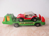 70er Jahre MATCHBOX Super Kings Transporter K 13-2 mit SAND CAT   Modellauto