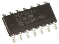 1 x Microchip MCP3424-E/SL 18 bit Serial ADC 4 Chan Differential Input SOIC-16