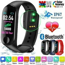 Bluetooth Smart Watch Wristband Blood Pressure Oxygen Monitor Heart Rate Tracker