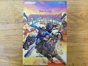 Sunset Riders Original Super NES Instruction Manual