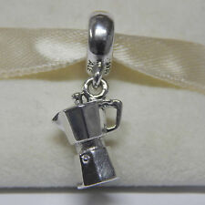 New Authentic Pandora Charm Coffee Lovers Dangle Bead 791514 Box Included
