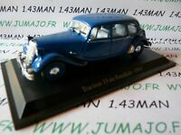 TRA57C voiture 1/43 atlas traction NOREV  traction 15 six familliale 1954