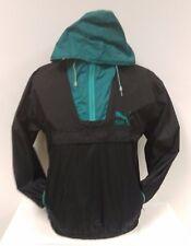 VTG PUMA Pullover Half Zip Windbreaker Jacket Hooded Coat 90s Athletic Gear 1/2