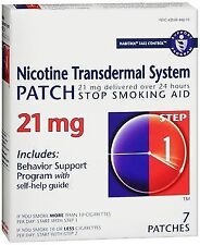 Habitrol Nicotine Transdermal System Patch 21 mg Step 1 - 7 ct, Pack of 2