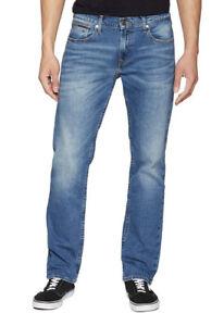 Tommy Hilfiger Straight Ryan Bootcut Fulton Mid Blue Denim Jeans, RRP £80, BNWT