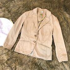 J. Crew Chino Women's Sz XS Tan Kaki Cotton Classic Career Jacket Blazer Pockets