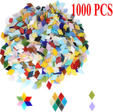 """1/2"""" White Stained Glass Mosaic Tiles (100 Pieces)"""