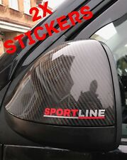 VW Sportline Transporter 2x Stickers T5 T4 Caddy Mirror Grill Dash Sticker Decal