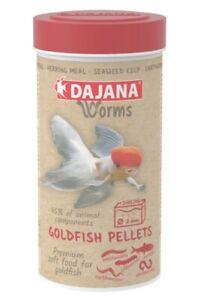 "NEW ""Worms"" Premium Goldfish sinking 2mm pellet food -  250ml / 115g BBE 2/22"